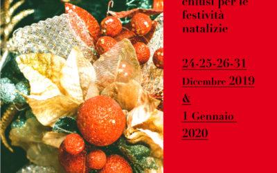 Festività Natalizie – Chiusura Uffici P.le Granato